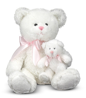 Marsh & Mallow Mother and Baby Teddy Bear Stuffed Animals