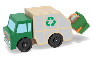 Garbage Truck Wooden Vehicle