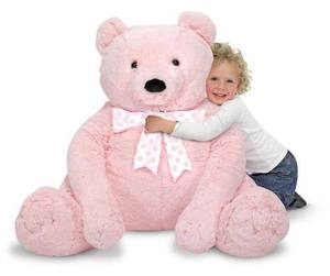 Jumbo Pink Teddy Bear - Plush