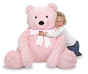 Jumbo Pink Teddy Bear - Plush