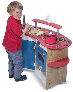 Cook's Corner Wooden Play Kitchen
