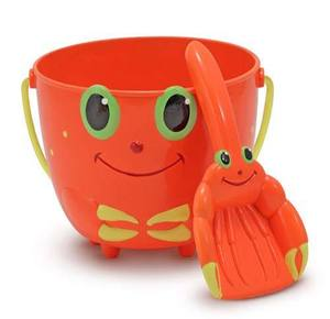 Clicker Crab Pail and Shovel Sand Toys