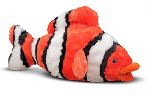 Bubbles Clown Fish Stuffed Animal