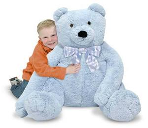 Jumbo Blue Teddy Bear - Plush