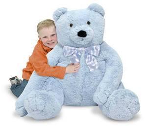 Jumbo Blue Teddy Bear - Plush