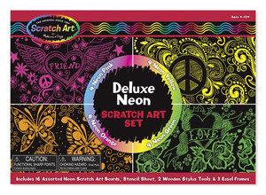 Scratch Art® Deluxe Neon Set
