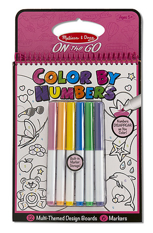 Color by Numbers Pink - ON the GO Travel Activity