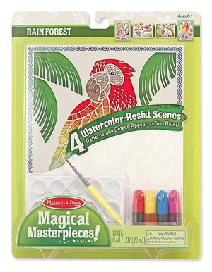 Magical Masterpieces - Watercolor Resist - Rain Forest