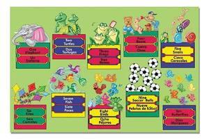 Bilingual Numbers Floor Puzzle - 24 Pieces