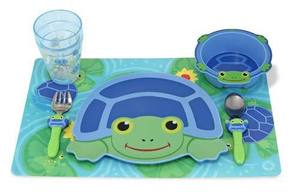 Scootin' Turtle Mealtime Tableware Set for Kids