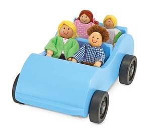 Road Trip! Wooden Car & Pose-able Passengers