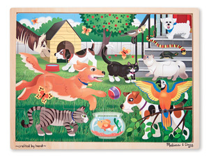 Pets Wooden Jigsaw Puzzle - 24 Pieces