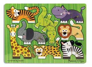 Zoo Mix 'n Match Peg Puzzle - 10 Pieces