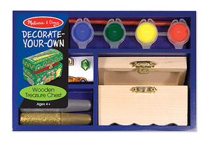 Decorate-Your-Own Wooden Treasure (Pirate) Chest