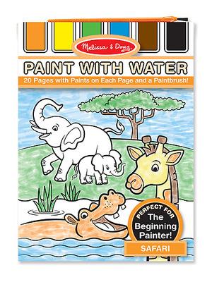 Safari Paint with Water Kids' Art Pad