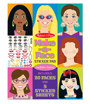Make-A-Face Sticker Pad