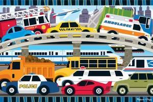 Traffic Jam Floor Puzzle - 24 Pieces