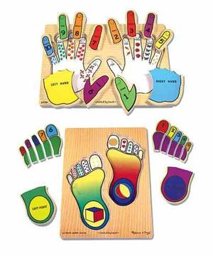 Hands & Feet Counting Puzzle Set