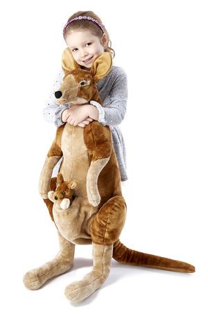 Kangaroo and Joey Lifelike Stuffed Animal