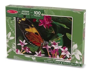 Butterfly Perch Cardboard Jigsaw Puzzle - 100 Pieces
