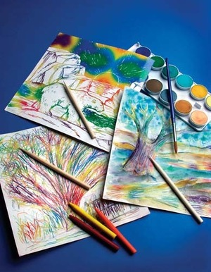 Scratch Art Paper Rainbow White (12 sheets)