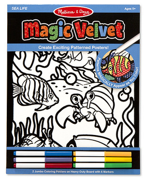 Magic Velvet Pattern-Reveal Posters - Sea Life
