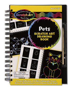 Scratch Art Drawing Book - Pets