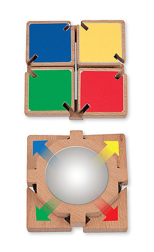 Color-Flap Mirror Clacking Toddler Toy
