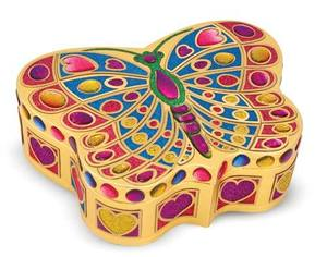 Butterfly Treasure Box Peel & Press Sticker by Number