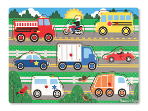 Vehicles Peg Puzzle - 8 Pieces