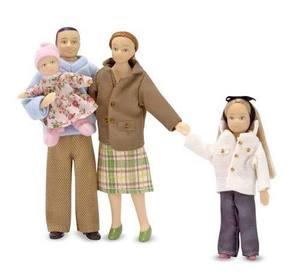 Victorian Doll Family - Caucasian