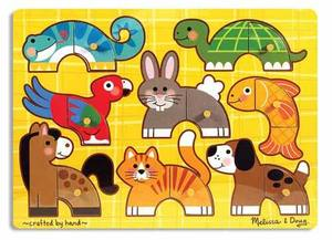 Pets Mix 'n Match Peg Puzzle - 8 Pieces
