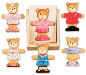 Wooden Bear Dress-Up