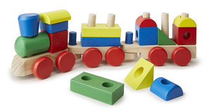 Melissa & Doug Stacking Train - Wooden Toys