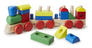 Melissa & Doug Stacking Train - Wooden Toys