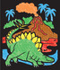 Magic Velvet Dinosaur Scenes - ON the GO Travel Activity