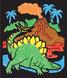 Magic Velvet Dinosaur Scenes - ON the GO Travel Activity