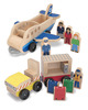 Whittle World Wooden Plane & Luggage Carrier Set - 12 Pieces