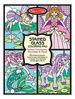 Stained Glass Coloring Pad - Fairies