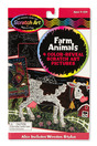 Scratch Art Color-Reveal Pictures - Farm Animals