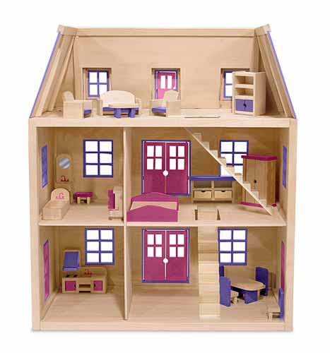Dvd shelf plans wood doll house wood - Three wooden house plans ...