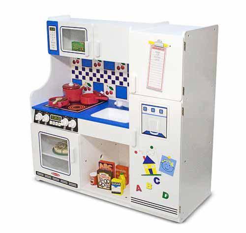 Play kitchens toys games melissa doug for Kitchen set wala game