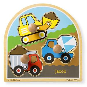 Construction Site Jumbo Knob Puzzle - 3 pieces