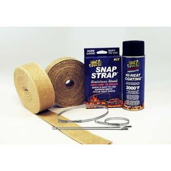 "EXHAUST WRAP KIT 2"" REGULAR 2 ROLLS picture"