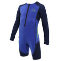 Stingray HP Core Wormer L/S - Blue & Navy Blue - 6Y