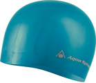 Swim Cap - Volume Long Hair Silicone - Turquoise w/Silver