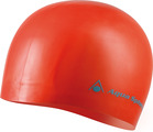 Swim Cap - Volume Long Hair Silicone - Red w/Light Blue