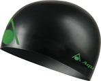 Energize Silicone Swim Cap - Black w/Green