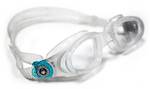 Mako - Clear Lens - Translucent Frame with Aqua Accents