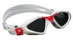 Kayenne Ladies - Smoke Lens - White Frame with Coral Accents